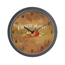 Farmer's Market Clock Wall Clock