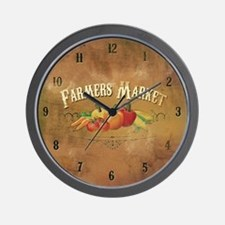 Farmer's Market Clock Wall Clock