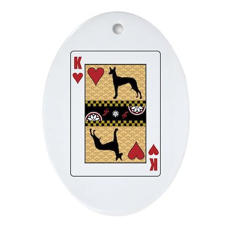 King Pharaoh Oval Ornament