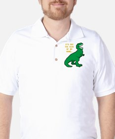 8 Bit T-Rex Short Arms Golf Shirt