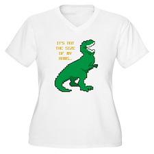 8 Bit T-Rex Short T-Shirt