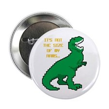 "8 Bit T-Rex Short Arms 2.25"" Button"