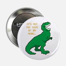 "8 Bit T-Rex Short Arms 2.25"" Button"