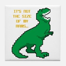 8 Bit T-Rex Short Arms Tile Coaster