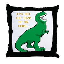 8 Bit T-Rex Short Arms Throw Pillow