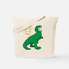 8 Bit T-Rex Short Arms Tote Bag