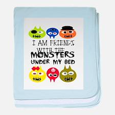 friend monster baby blanket
