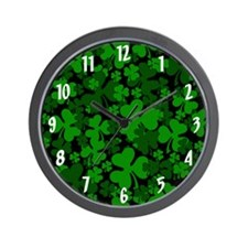 Shamrock Clover Wall Clock