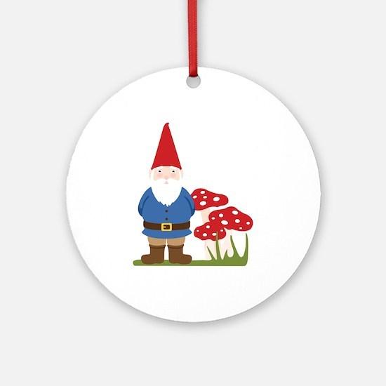 Garden Gnome Ornament (Round)