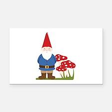 Garden Gnome Rectangle Car Magnet
