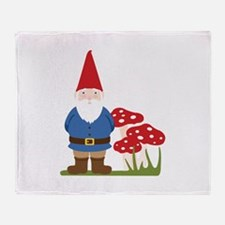 Garden Gnome Throw Blanket