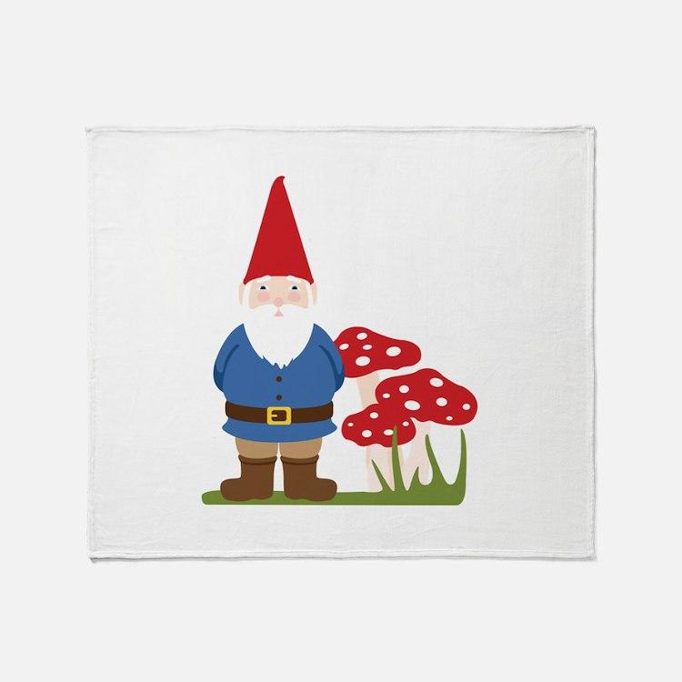 Garden Gnome Throw Blanket