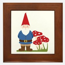 Garden Gnome Framed Tile