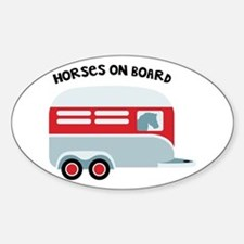 HORSES ON BOARD Decal