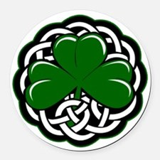 Celtic Shamrock Round Car Magnet