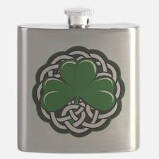 Celtic Shamrock Flask