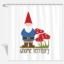 Gnome Territory Shower Curtain