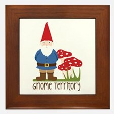 Gnome Territory Framed Tile