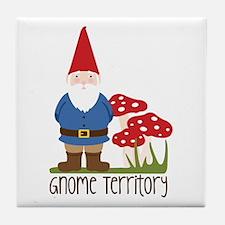Gnome Territory Tile Coaster