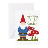 Garden gnome Greeting Cards (10 Pack)