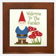 Welcome to the Garden Framed Tile