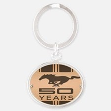 Ford Mustang 50 Year Anniversary Oval Keychain
