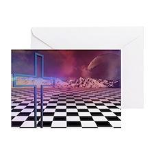 cross n checkers Greeting Card