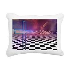 cross n checkers Rectangular Canvas Pillow