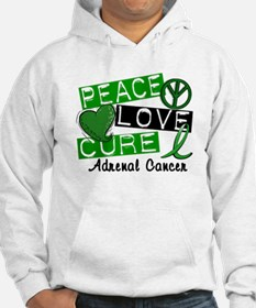 Peace Love Cure 1 Adrenal Cancer Hoodie