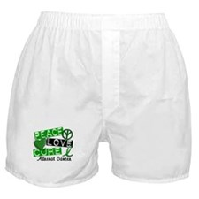 Peace Love Cure 1 Adrenal Cancer Boxer Shorts