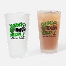 Peace Love Cure 1 Adrenal Cancer Drinking Glass
