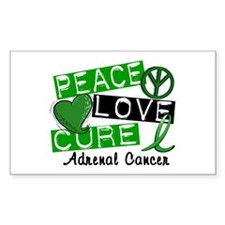 Peace Love Cure 1 Adrenal Canc Decal
