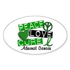 Peace Love Cure 1 Adrenal Cancer Decal
