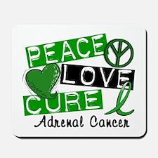 Peace Love Cure 1 Adrenal Cancer Mousepad