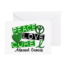 Peace Love Cure 1 Adrenal Cancer Greeting Card