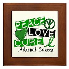 Peace Love Cure 1 Adrenal Cancer Framed Tile