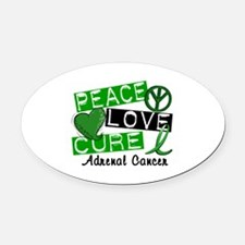 Peace Love Cure 1 Adrenal Cancer Oval Car Magnet
