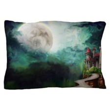 Full Moon With Castle Pillow Case
