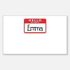 Hello Emma Rectangle Decal
