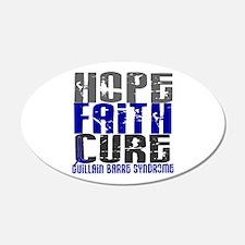 Hope Faith Cure GBS Wall Decal