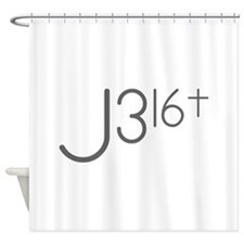 J316Typo.png Shower Curtain