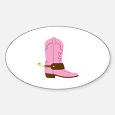 Pink Cowgirl Boot Spurs Decal