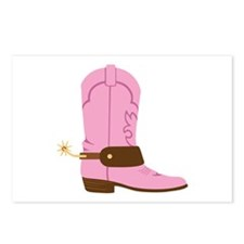 Pink Cowgirl Boot Spurs Postcards (Package of 8)