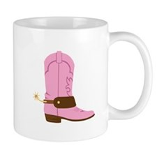 Pink Cowgirl Boot Spurs Mugs