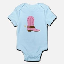 Pink Cowgirl Boot Spurs Body Suit
