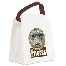 save tiger Canvas Lunch Bag