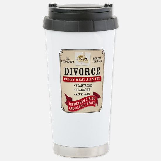 Medicinal Divorce Label Travel Mug