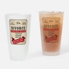 Medicinal Divorce Label Drinking Glass