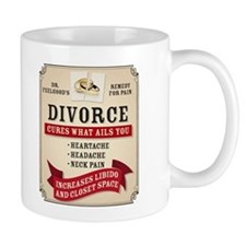 Medicinal Divorce Label Mugs