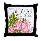 100th birthday Cotton Pillows